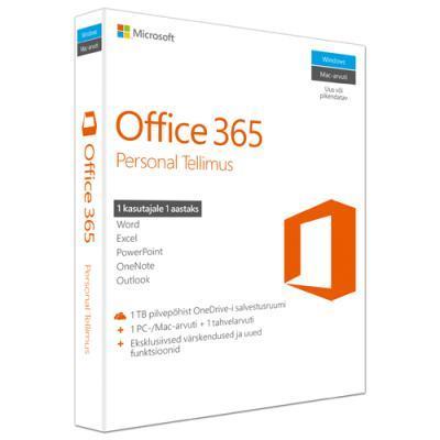Microsoft Office 365 Personal 32-bit/x64 (eestikeelne)