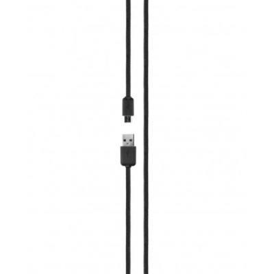 USB kaabel XQISIT USB 2.0 A otsik ja Micro USB B otsik, 1,8 m (must)