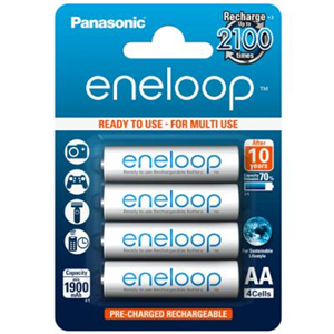 aku Panasonic eneloop, 1900 mAh AA/4BP