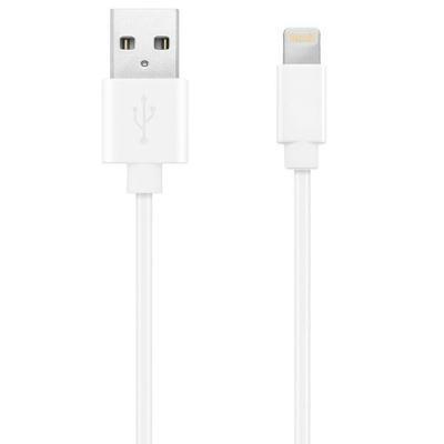 USB kaabel KEY USB A otsik ja Lightning B otsik, 1 m (valge)
