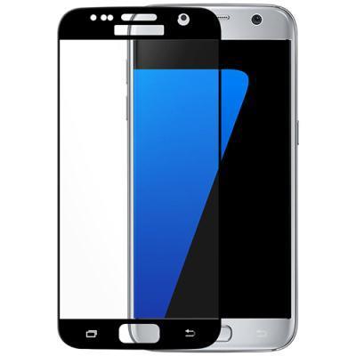 ekraanikaitseklaas KEY Samsung Galaxy S7'le (kumerate servadega) (must)