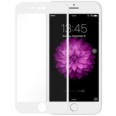 ekraanikaitseklaas KEY Apple iPhone 6/6S/7/8'le (kumerate servadega) (valge)