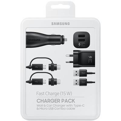 laadijate komplekt Samsung Micro-USB+USB-C
