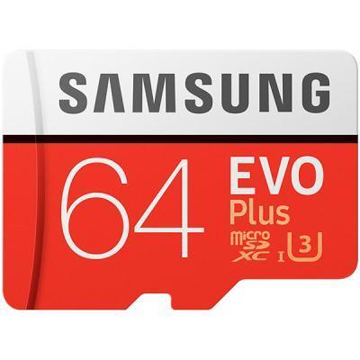 mälukaart Samsung EVO Plus + SD adapter, 64 GB