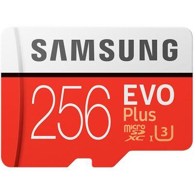 mälukaart Samsung EVO Plus + SD adapter, 256 GB
