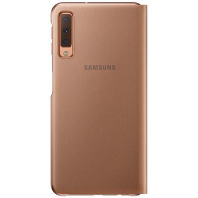 kaaned Samsung Flip Wallet Galaxy A7 2018'le (kuldne)