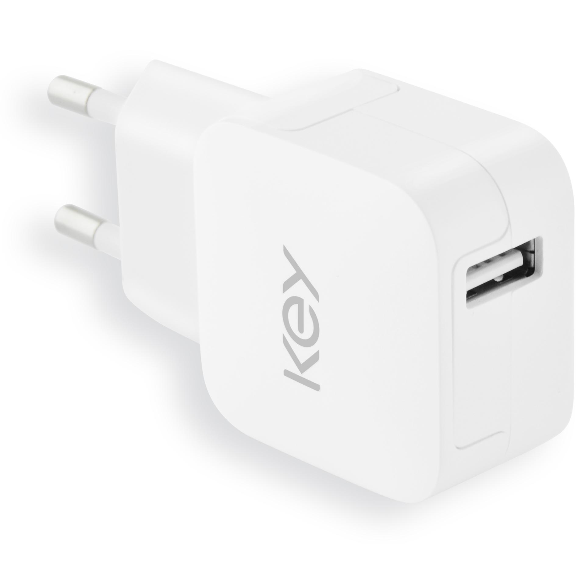 toalaadija KEY 2.4A USB-C 1m